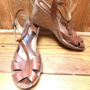 Clark's Artisan Collection Leather Wedges